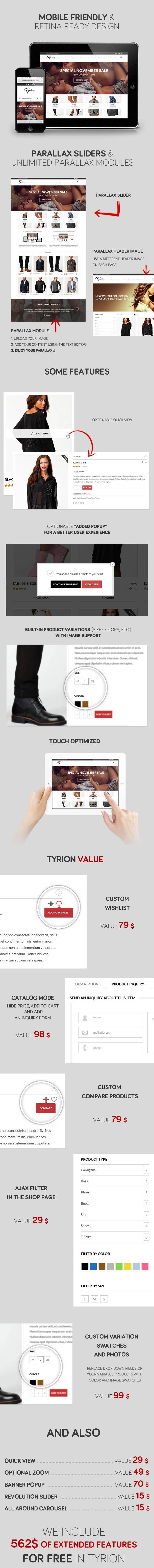Tyrion -  Flexible Parallax e-Commerce Theme