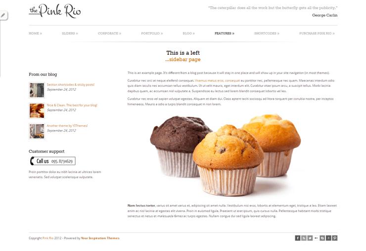 PinkRio Tema WordPress FREE minimal e responsive 14