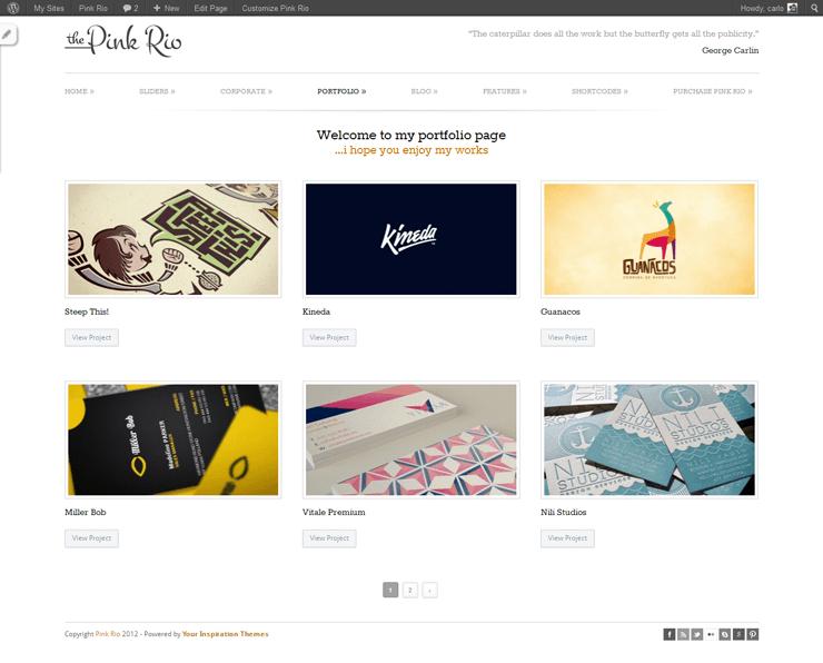 PinkRio Tema WordPress FREE minimal e responsive 27